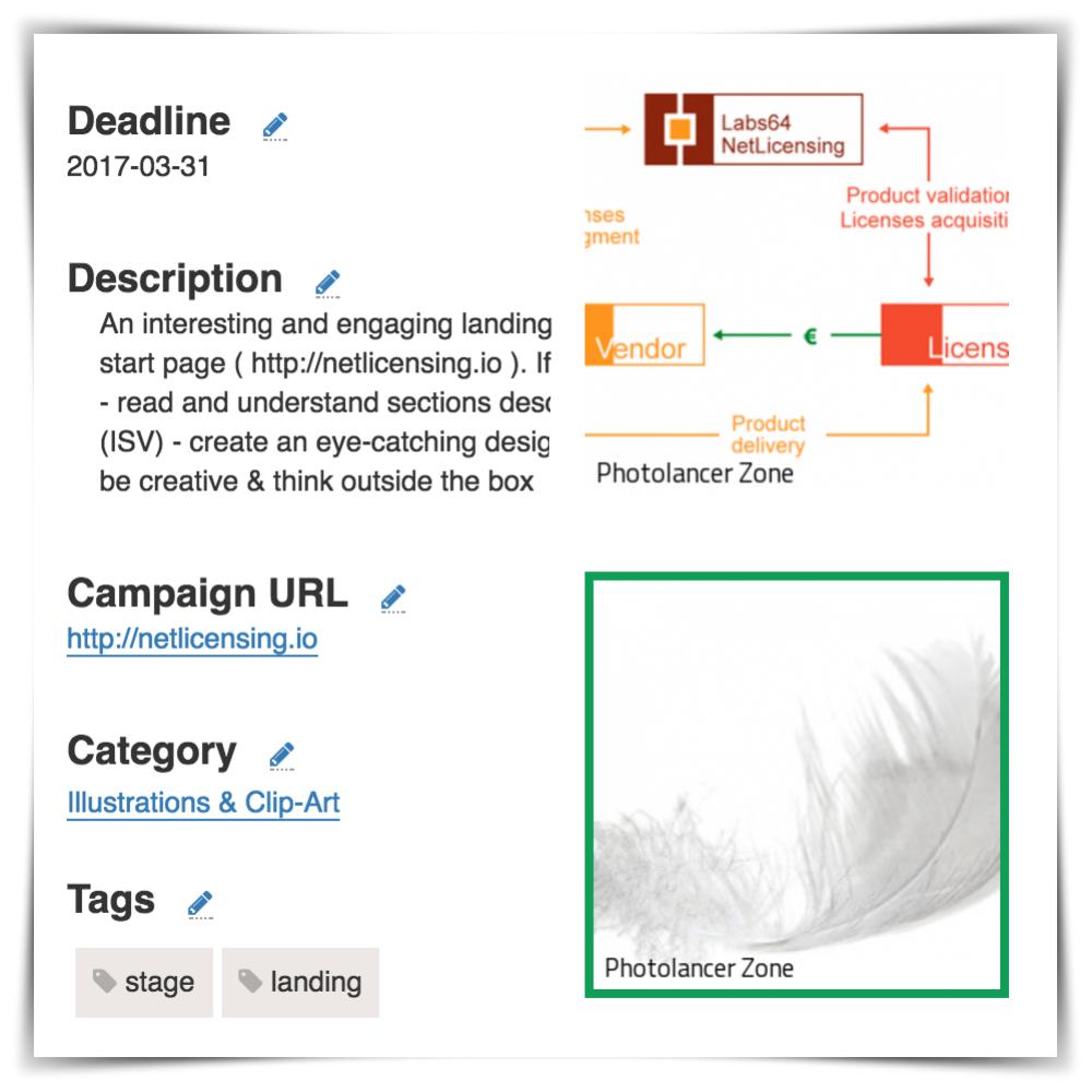 Photolancer Zone Feature: Campaign URL